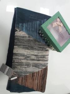 Sciarpa GianMarco Venturi con scatola regalo Verde