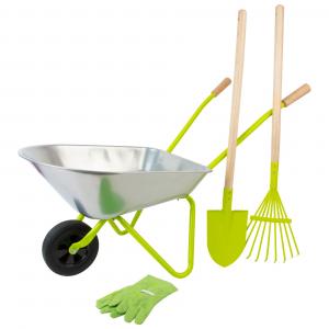 Set attrezzi da giardino per bambini con Carriola