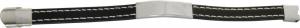 Bracciale in acciaio con intreccio nero cm.21x1,2x1h