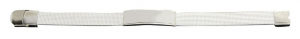 Bracciale in acciaio con intreccio bianco cm.21x1,2x0,7h