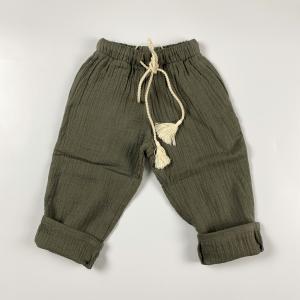 Pantalone Leone  in garza con cordino