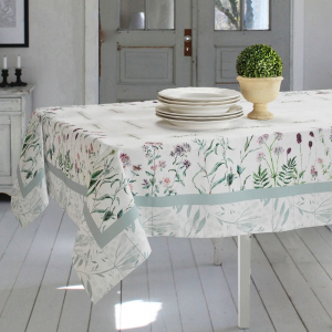 Tovaglie di Varie Misure o Elegante Set di 4 Strofinacci da Cucina 50x70cm in Cotone 100% NATURALE con Design Moderno FLOREALE | BOTANICO