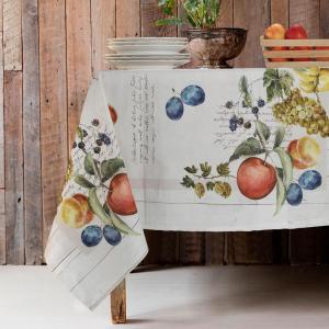 Tovaglie di Varie Misure o Elegante Set di 4 Strofinacci da Cucina 50x70cm in Cotone 100% NATURALE con Design Moderno | FRUTTA