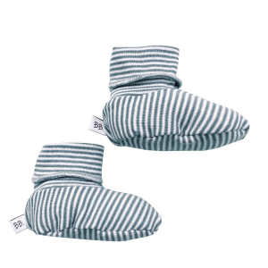 Scarpette babbucce neonato Bamboom Rigato Bianco/Azzurro