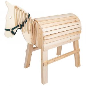 Cavallo di legno da giardino