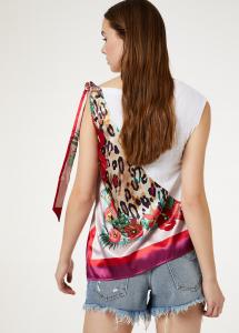 Top Liu Jo jeans FA0043J5944 con foulard