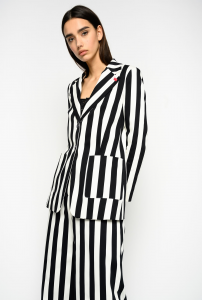 SHOPPING ON LINE PINKO CROCCANTE BLAZER A RIGHE  NEW COLLECTION WOMEN'S SPRING SUMMER 2020