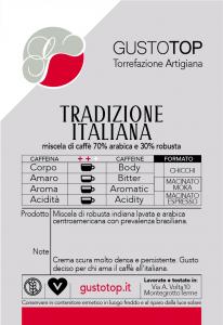 CAPSULE COMPOSTABILI COMPATIBILI NESPRESSO 100% biodegradabili Miscela Tradizione Italiana, confezione da n.18 pz