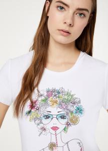 T-shirt Liu Jo FA0101J5003 con stampa