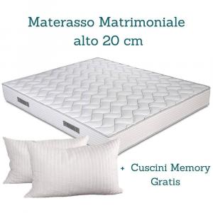 Letto Matrimoniale Contenitore colore Grigio con Materasso matrimoniale e due cuscini in memory, Completamente sfoderabile