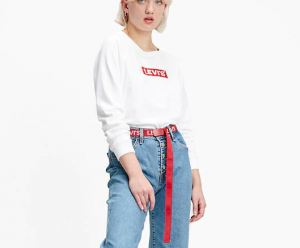 Felpa donna LEVI'S RELAXED GRAPHIC CREWNECK