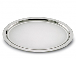 Vassoio ovale placcato argento stile Cardinale cm.39x29