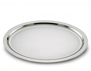 Vassoio ovale placcato argento stile Cardinale cm.45x35