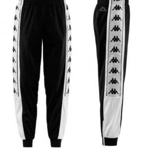 Pantalone Kappa Banda 10 Alienz Black White da Uomo