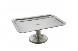Vassoio alzata rettangolare con base placcato argento cm.37x27x15,5h
