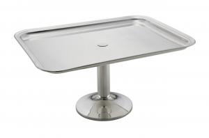 Vassoio alzata rettangolare con base placcato argento cm.45x35x23,5h