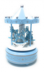 Giostra carillon celeste con cavalli cm.16,5h diam.12