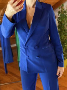 Blazer Vicolo profili raso  Blu Elettrico