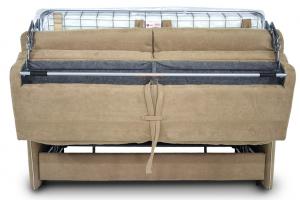 BUTTERFLY - Divano letto matrimoniale 3 posti con braccioli slim - materasso da 18 cm rivestito in nabucco con bordini a contrasto