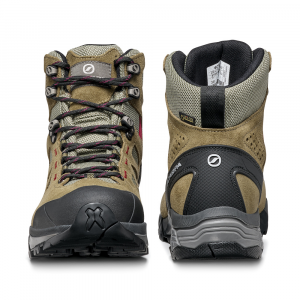 ZG LITE GTX WMN   -   For tracks and trails   -   Taupe-Red Ibiscus