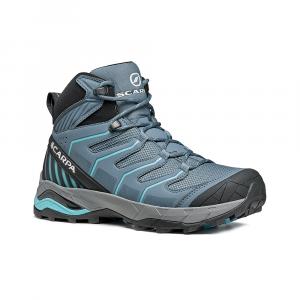 MAVERICK MID GTX  WOMAN -   Fast hikes on mixed terrains, waterproof, lighweight   -  Storm Gray-Aqua
