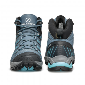 MAVERICK MID GTX  WOMAN -   Fast hikes on mixed terrains, waterproof, lighweight   -  Storm Gray-Aqua