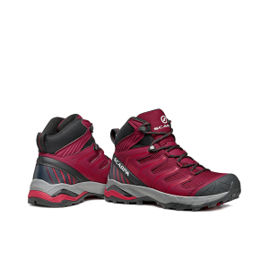 MAVERICK MID GTX  WOMAN -   Fast hikes on mixed terrains, waterproof, lighweight   -  Red Violet-Cherry