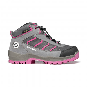 MISTRAL KID GTX   -   Trekking on trails and forests, waterproof   -   Gray-Fuxia