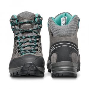 KAILASH TREK GTX WMN   -   On trails with full backpacks, waterproof   -   Titanium-Smoke-Lagoon
