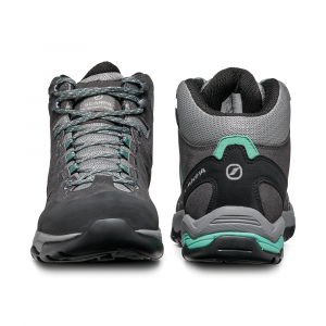 MORAINE MID GTX WOMAN   -   Hiking su terreni misti, lunghe camminate, Impermeabile   -   Midgray-Storm Gray-Lagoon Green