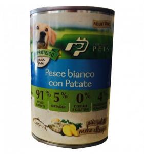 DISUGUAL - UMIDO PROFESSIONAL PETS PESCE BIANCO E PATATE 400 GR