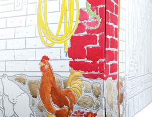 Casa cartone per bambini gioco da dipingere dim 87 71 88