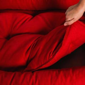 Letto per Cani di diverse Taglie color Rosso, Imbottitura in Schiuma Waterfoam Morbido Lavabile in Lavatrice, Cuccia da Interno con Cuscino Sfoderabile, Materasso per Tutti Animali Domestici