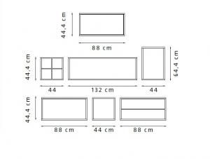 Elementi componibili Space 06