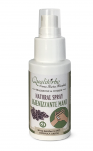 Natural Spray Igienizzante Mani 50 ml 100% naturale (Alcool Bio 60%)Vegan Ok