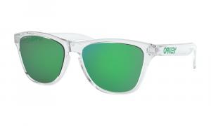 Oakley - Occhiale da Sole Uomo, Frogskins™ XS (Youth Fit), Polished Clear/Green Jade Prizm  OJ9006-1853  C53