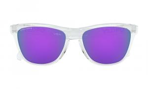 Oakley - Occhiale da Sole Uomo, Frogskins™, Polished Clear/Violet Prizm  OO9013-H755  C55