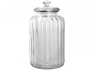 Biscottiera in vetro con coperchio lt 2,5 cm.26,5h