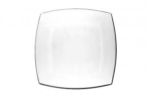 Piattino pane quadrato in vetro trasparente cm.14,5x14,5x2h