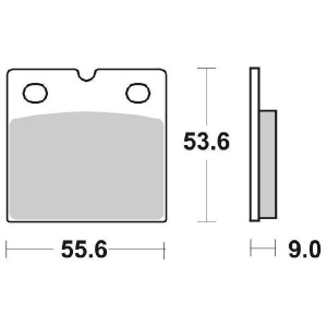 65.65060/8 PASTIGLIE CERAMICATE MOTO SBS 506 HF