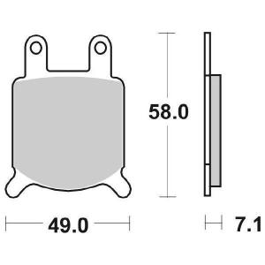 65.65600/0 PASTIGLIE CERAMICATE  MOTO SBS 560 HF