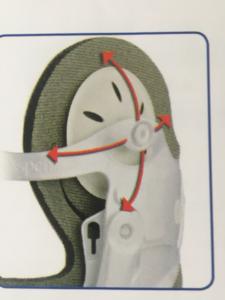 TUTORE VISTA MP cervicale bivalve con doppia regolazione in altezza