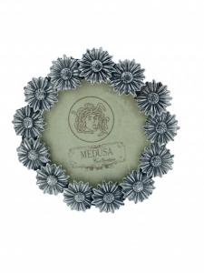 CORNICE TONDA IN ARGENTO 925 (16 G) MEDUSA. DIAMETRO 5.80 CM