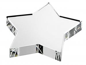 Fermacarte stella in vetro cm.8x8x1,9h