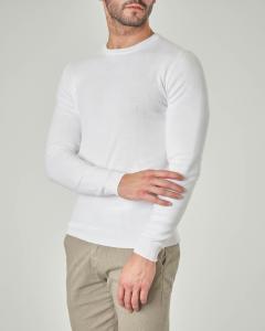 Maglia bianca girocollo in cotone