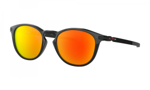 Oakley - Occhiale da Sole Uomo, Pitchman™ R, Polished Black/Red Prizm Ruby  OO9439-0550  C50