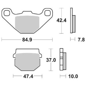 65.65480/0 PASTIGLIE CERAMICATE MOTO SBS 548 HF