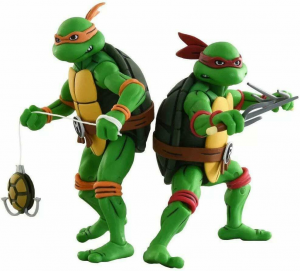 *PREORDER* Teenage Mutant Ninja Turtles: Action Figure Animated Series - Wave 2 Michelangelo & Raffaello by Neca