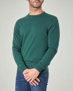 Maglia verde girocollo in cotone