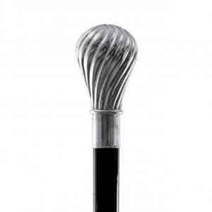 Bastone da passeggio di lusso Torciglione impugnatura rivestita in argento puro 999 cm.93h